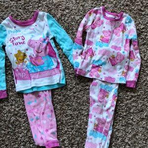 Other - Set of 2 peppa pig cotton pajamas